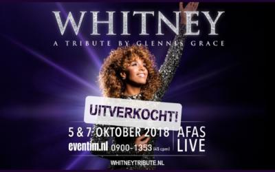 WHITNEY – a tribute by Glennis Grace volledig uitverkocht!